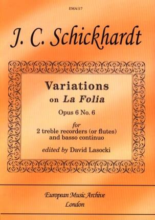 Variations Sur la Follia Op. 6 N°6 - laflutedepan.com