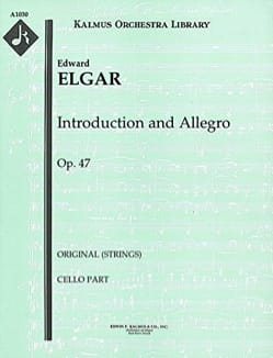 ELGAR - Introduction et Allegro Op 47 - Partition - di-arezzo.fr