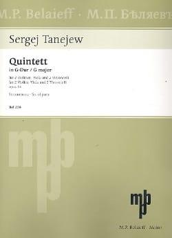 Streichquintette Op.14 In G Maj. - Serge Taneiev - laflutedepan.com
