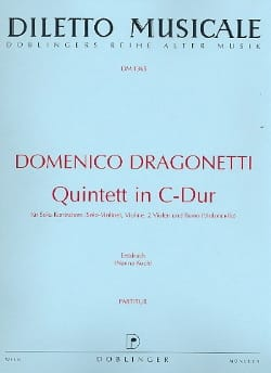 Domenico Dragonetti - Quintette En Do Maj. - Partition - di-arezzo.fr