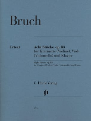 Max Bruch - 8 Stücke Opus 83 - Sheet Music - di-arezzo.co.uk