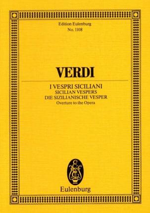 Giuseppe Verdi - Die Sizilianische Vesper, Ouverture - Partition - di-arezzo.fr