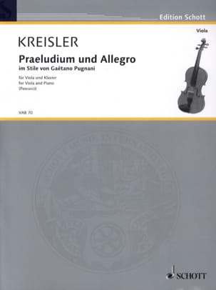 Fritz Kreisler - Prelude and Allegro In Pugnani Style - Sheet Music - di-arezzo.com