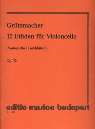 Friedrich Grützmacher - 12 Studies Op. 72 - Partition - di-arezzo.co.uk