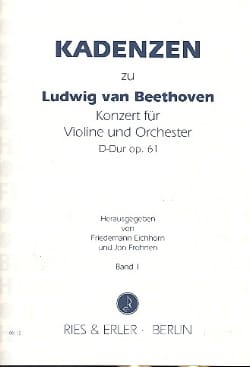 Cadences On Concerto Op.61 In D Maj. From Beethoven Volume 1 - Partition - di-arezzo.co.uk