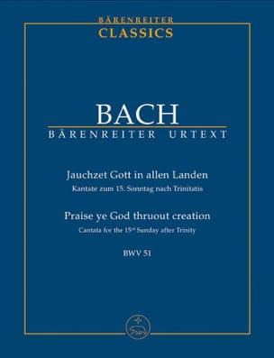 Jauchzet Gott In Allen Landen BWV 51 BACH Partition laflutedepan