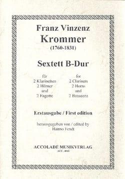 Franz Krommer - Sextuor à Vents B-Dur - Partition - di-arezzo.fr