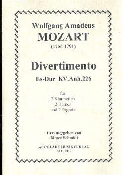 MOZART - Sextuor Mi Bémol M. Kv 226 - Partition - di-arezzo.fr