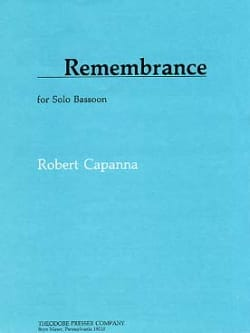Remembrance - Basson - Robert Capanna - Partition - laflutedepan.com