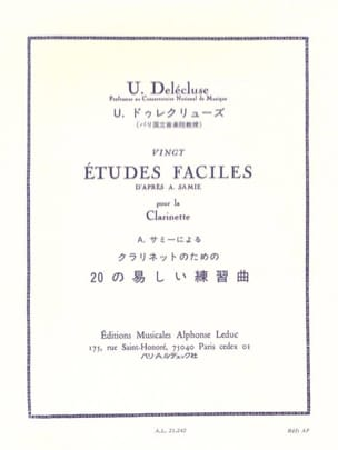 Ulysse Delecluse - 20 Easy studies - Sheet Music - di-arezzo.co.uk