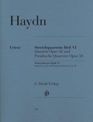 Joseph Haydn - Quatuors à cordes volume VI op. 42 et op. 50 (Quatuors Prussiens) - Partition - di-arezzo.fr