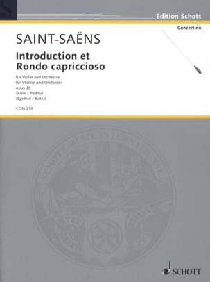 Camille Saint-Saëns - Introduction et Rondo Cappriccioso Opus 28 - Partition - di-arezzo.fr