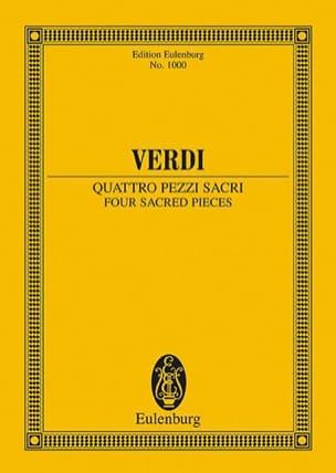 Quattro pezzi sacri - VERDI - Partition - laflutedepan.com