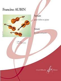 Sonate Pour Violon et Piano - Francine Aubin - laflutedepan.com