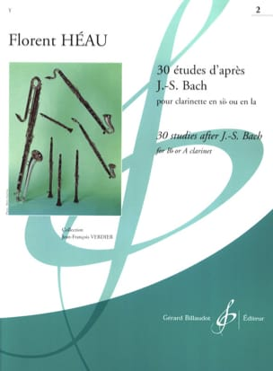 Héau Florent / Bach Johann Sebastian - 30 Studies after JS Bach Volume 2 - Sheet Music - di-arezzo.co.uk