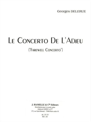 Georges Delerue - Farewell Concerto - Sheet Music - di-arezzo.co.uk
