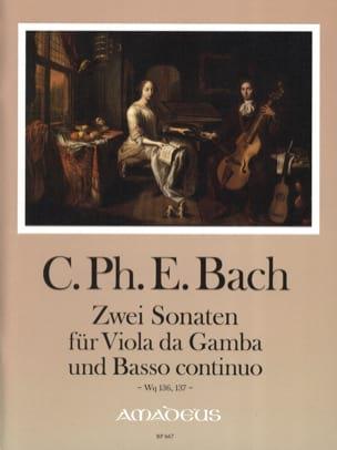 Carl Philipp Emanuel Bach - 2 Sonaten Für Viola Da Gamba Und B.C. Wq 136, 137 - Partition - di-arezzo.fr