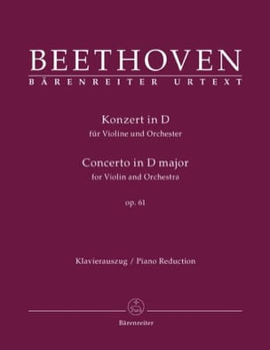 BEETHOVEN - Concerto in D Maj. Op.61 - Sheet Music - di-arezzo.co.uk