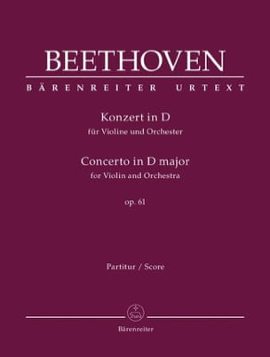 BEETHOVEN - Concerto In D Maj. Op. 61 For Violin and Orchestra - Sheet Music - di-arezzo.co.uk