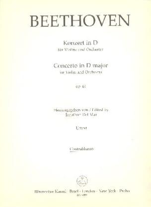 BEETHOVEN - Concerto pour Violon en Ré Op. 61 - Matériel - Partition - di-arezzo.fr