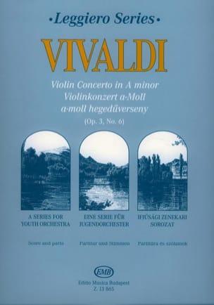 VIVALDI - Violin Concerto In A Minor, Rv 356 Op.3 Nr. 6 - Score - Parts - Sheet Music - di-arezzo.com