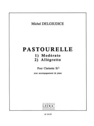 Pastourelle Michel Delgiudice Partition Clarinette - laflutedepan