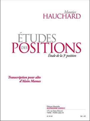 Maurice Hauchard - Position Studies - 3rd Position - Sheet Music - di-arezzo.co.uk