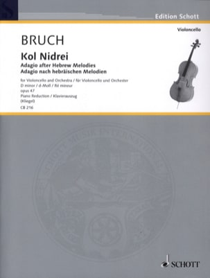 Max Bruch - Kol Nidrei Op. 47 in D Min. - Sheet Music - di-arezzo.co.uk