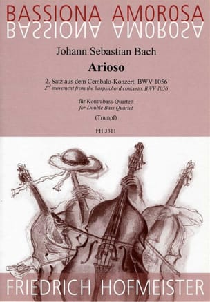 Johann Sebastian Bach - Arioso du 2d Mouvt. du Concerto BWV 1056 - Partition - di-arezzo.fr