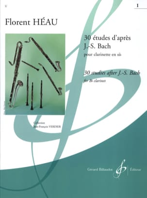Héau Florent / Bach Johann Sebastian - 30 Studies after JS Bach Volume 1 - Sheet Music - di-arezzo.co.uk
