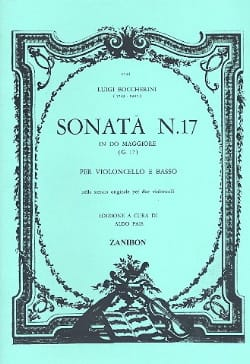 Luigi Boccherini - Sonate N° 17 G17 - Partition - di-arezzo.fr