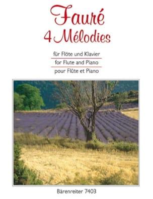 4 Mélodies FAURÉ Partition Flûte traversière - laflutedepan