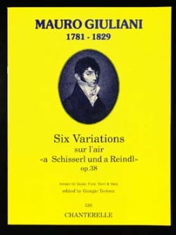 6 Variations Opus 38 - Mauro Giuliani - Partition - laflutedepan.com