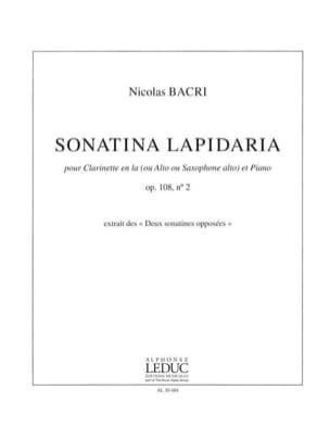 Nicolas Bacri - Sonatina Lapidaria Op.108 N°2 - Partition - di-arezzo.fr