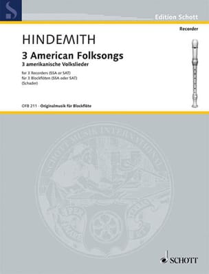 Paul Hindemith - 3 American Folksongs - Sheet Music - di-arezzo.co.uk