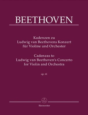 BEETHOVEN - Cadences On Beethoven's Concerto Op.61 - Sheet Music - di-arezzo.com