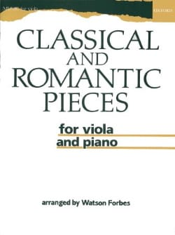 Classical and Romantic Pieces for viola and piano laflutedepan