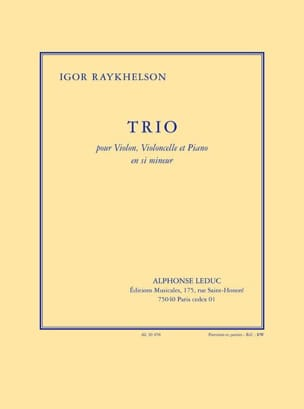 Igor Raykhelson - Trio in Si Minor - Sheet Music - di-arezzo.com