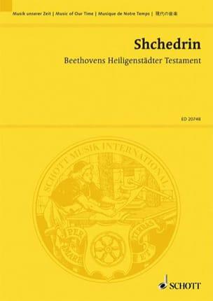 Rodion Shchedrin - Beethovens Heiligenstädter Testament - Partitura - di-arezzo.es