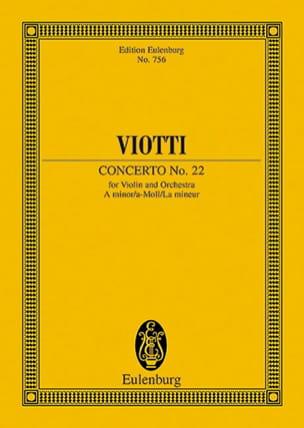 Giovanni Battista Viotti - Violin-Konzert Nr. 22 a-moll - Partition - di-arezzo.fr