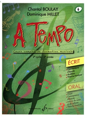A Tempo Volume 6 - Ecrit BOULAY - MILLET Partition laflutedepan