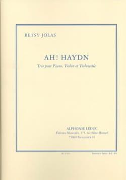Betsy Jolas - Ah! Haydn - Sheet Music - di-arezzo.com
