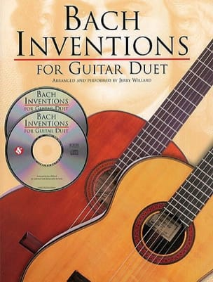 Inventions For Guitar Duet + 2 CDs BACH Partition laflutedepan