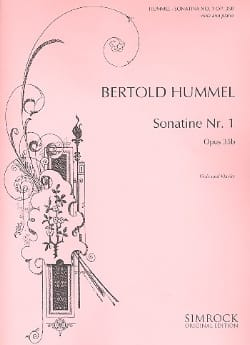 HUMMEL - Sonatine N ° 1 Op.35b - Sheet Music - di-arezzo.co.uk