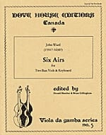 John Ward - Six Airs pour deux basses de viole et basse continue - Partition - di-arezzo.fr