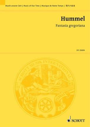 Fantasia Gregoriana HUMMEL Partition Grand format - laflutedepan