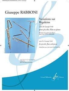 Giuseppe Rabboni - Variations On Rigoletto Op. 55 - Sheet Music - di-arezzo.com