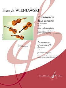 WIENIAWSKI - 1st Movement Of The 2nd Concerto In Re Min. Op.22 - Sheet Music - di-arezzo.co.uk
