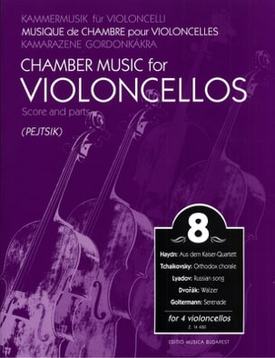 Arpad Pejtsik - Chamber music for violoncellos - vol . 8 - Score + parts - Partition - di-arezzo.fr