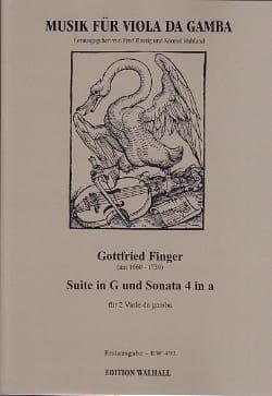Gottfried Finger - Sonata in G major and Sonata 4 in A minor - Sheet Music - di-arezzo.com